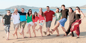 The AgilityFeat team on the beach in Tamarindo, Costa Rica
