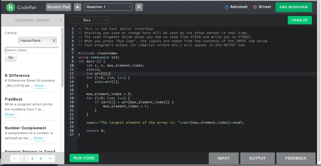 Hacker Rank codepair_audio_2